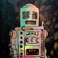 Robot IV by Guy Allott