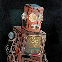 Robot VI by Guy Allott