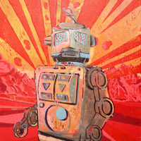 Robot VII by Guy Allott