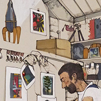 Guy Allott's Studio (Full Colour) by Sophie Glover